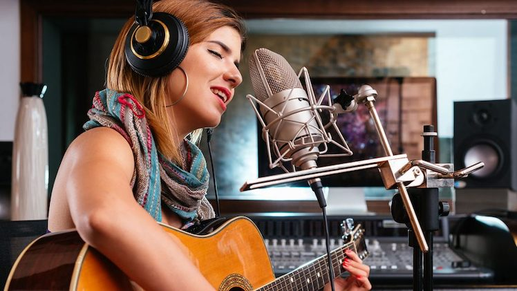 Student In Studio Wollongong Guitar Lessons